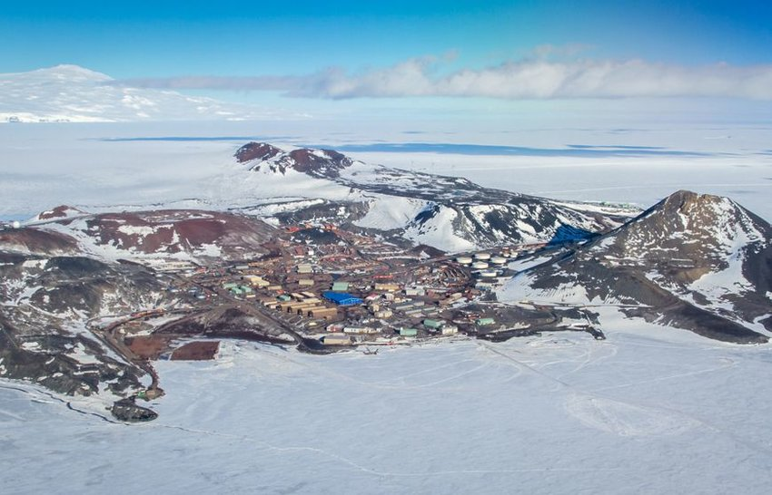 Aerial view of McMurdo Station