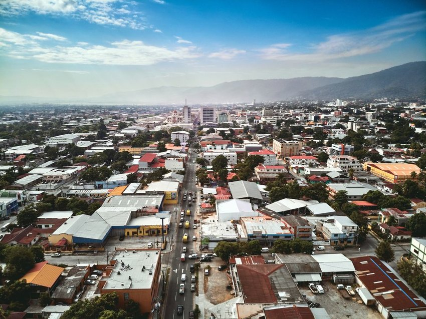 Aerial view of San Pedro Sula