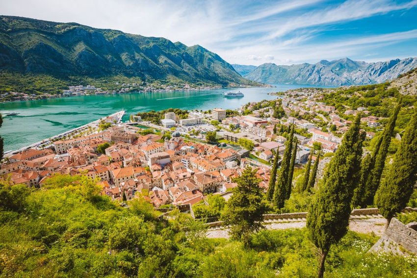 Bay of Kotor in Montenegro, Balkans
