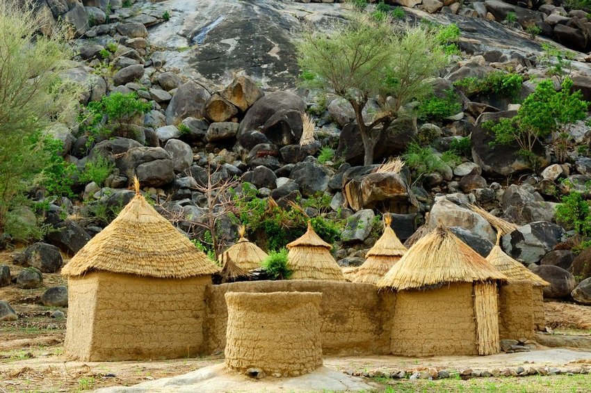 Mud homes in Mandara Mountains region of Cameroon