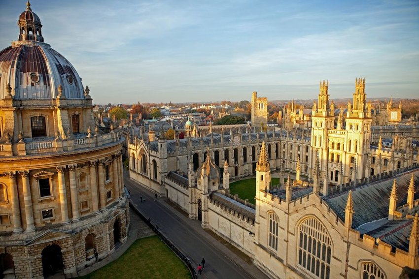 University of Oxford from above