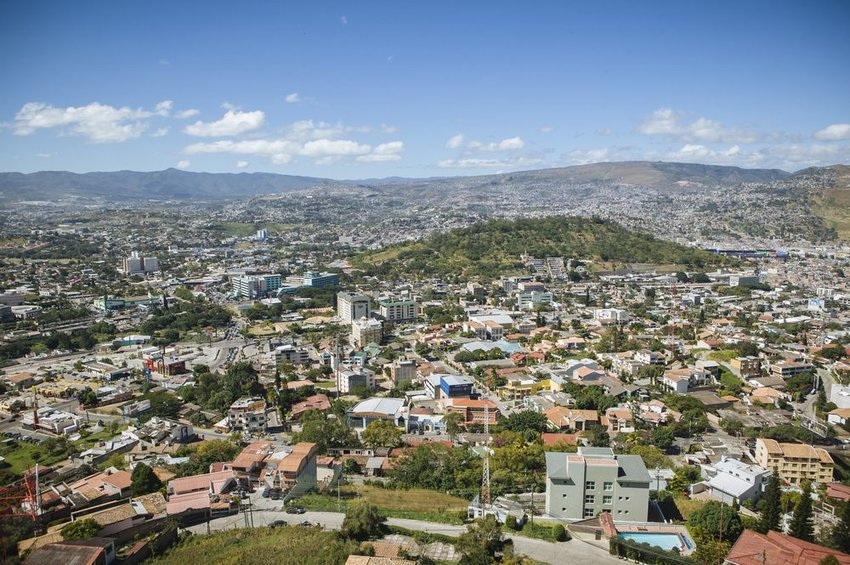 Aerial view of the city of Tegucigalpa