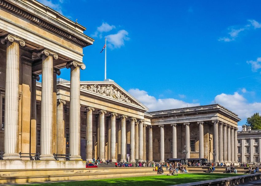 The British Museum, where the Rosetta Stone is kept on display