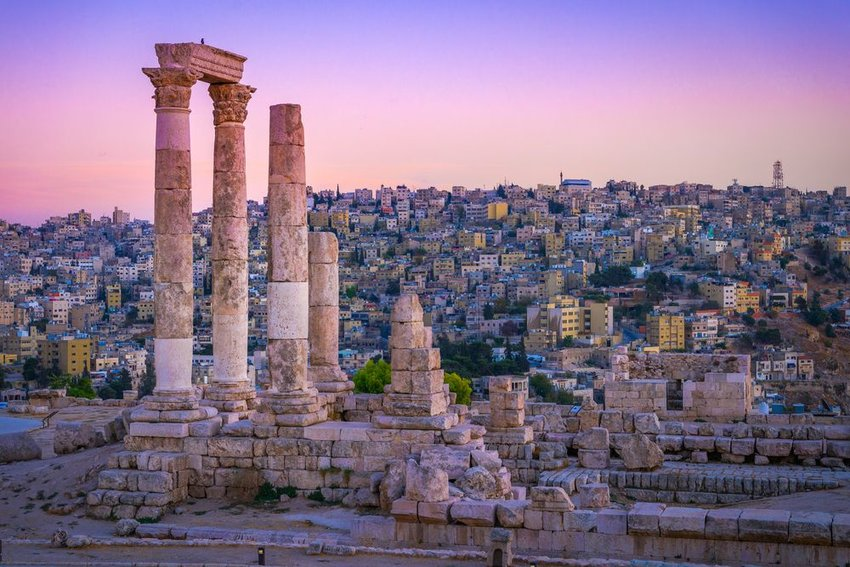 Amman, Jordan at sunset