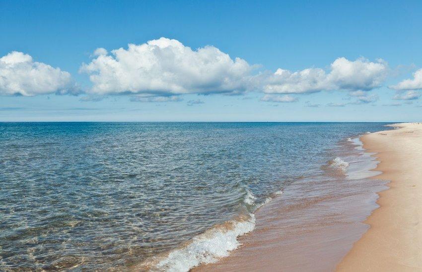 Lake Michigan from the beach