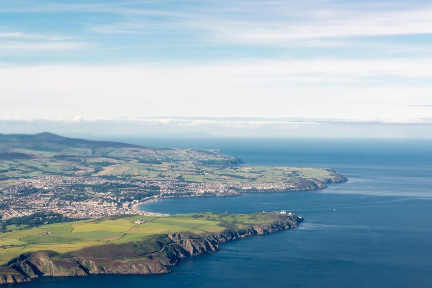 Aerial view of Isle of Man
