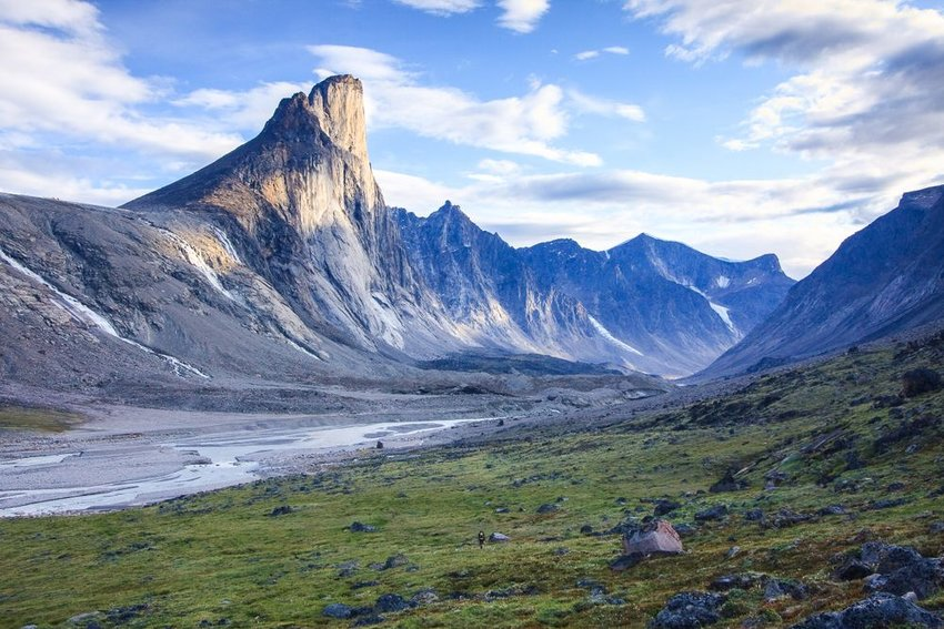 Evening light on Mount Thor in Auyuittuq National Park, Nunavut, Baffin Island