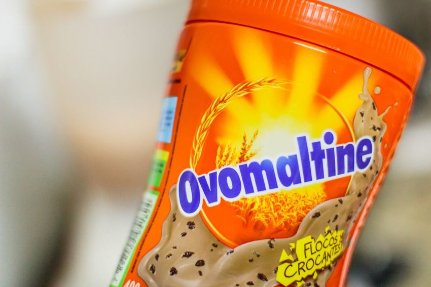 Ovomaltine Chocolate in orange packaging