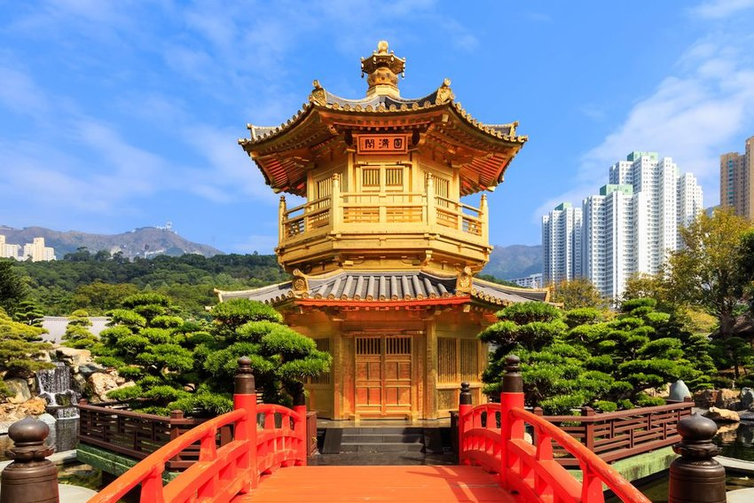 The Pavilion of Absolute Perfection in the Nan Lian Garden, Hong Kong