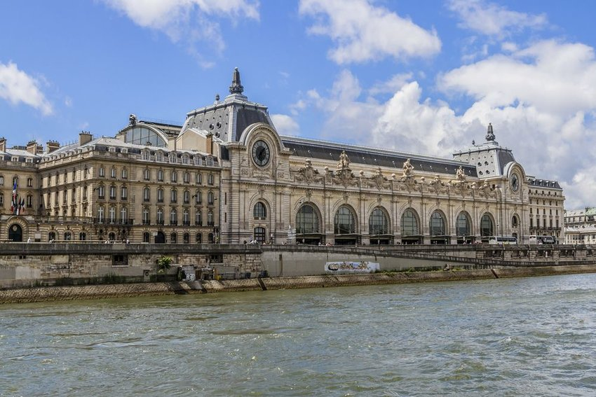 Musée d'Orsay seen from outside across the canal in Paris