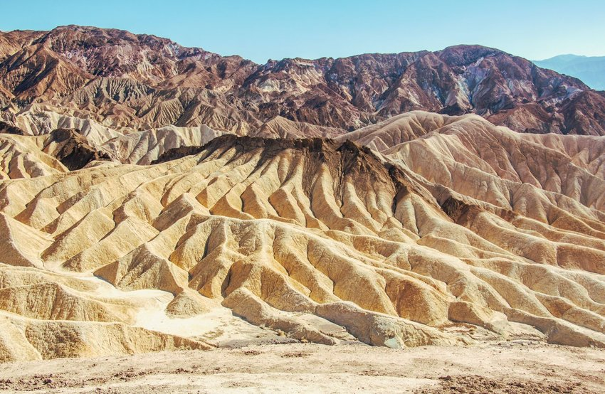 Rocky mountains in Death Valley National Park
