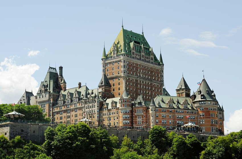 Le Château Frontenac in Quebec City, Canada
