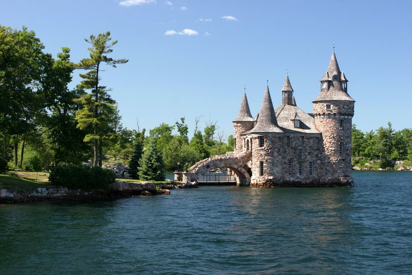 Boldt Castle seen from the water in Alexandria Bay, New York