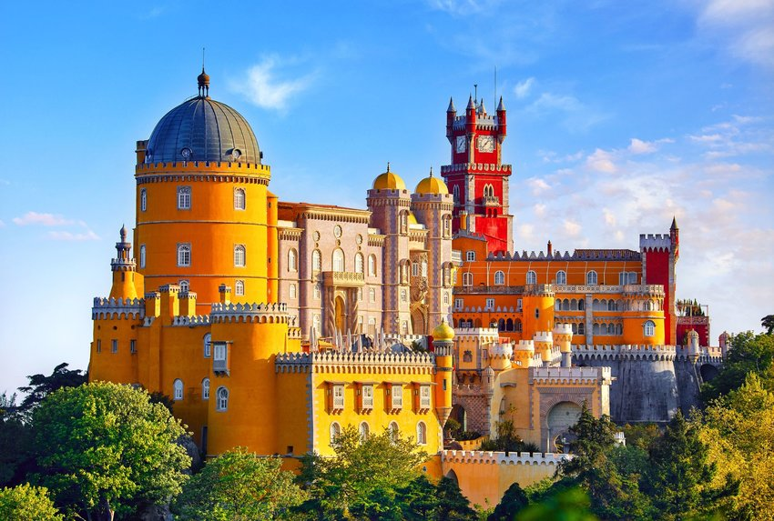 Bright and colorful Pena Palace