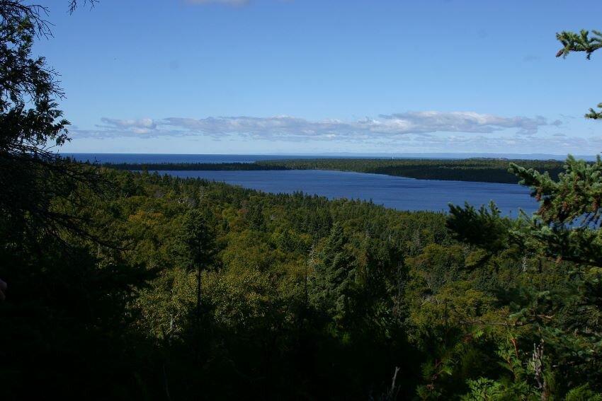 Feldtmann Ridge to Siskiwit Bay at Minong Ridge Trail.