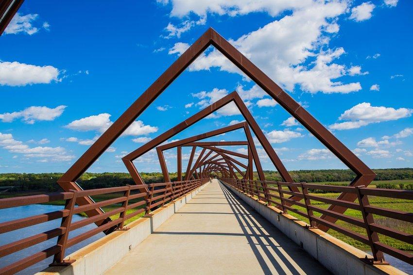 Looking across High Trestle Trail Bridge over Des Moines River