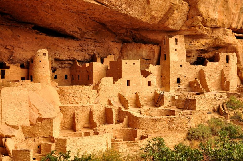 Ancient cave dwellings of Mesa Verde National Park