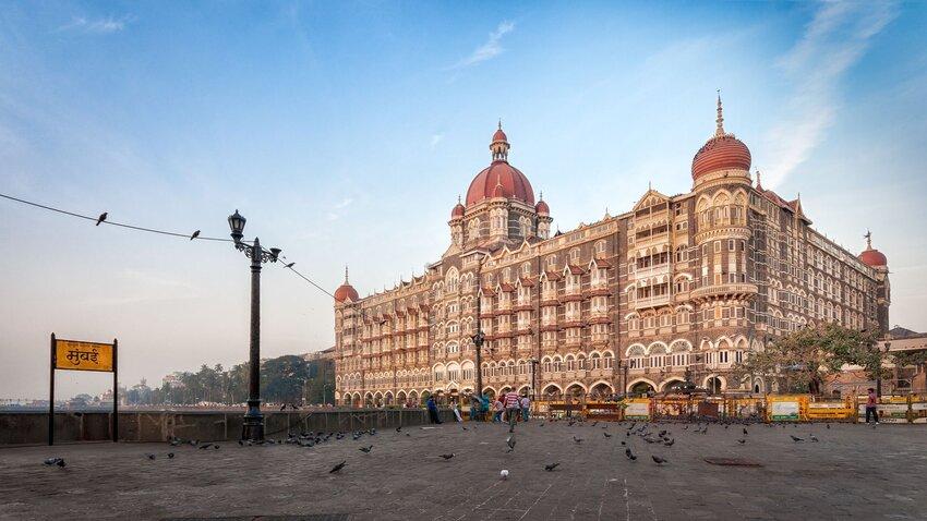 Exterior of Taj Mahal Palace hotel