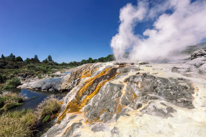 Pohutu Geyser in Te Puia – Rotorua, Bay of Plenty, North Island, New Zealand.