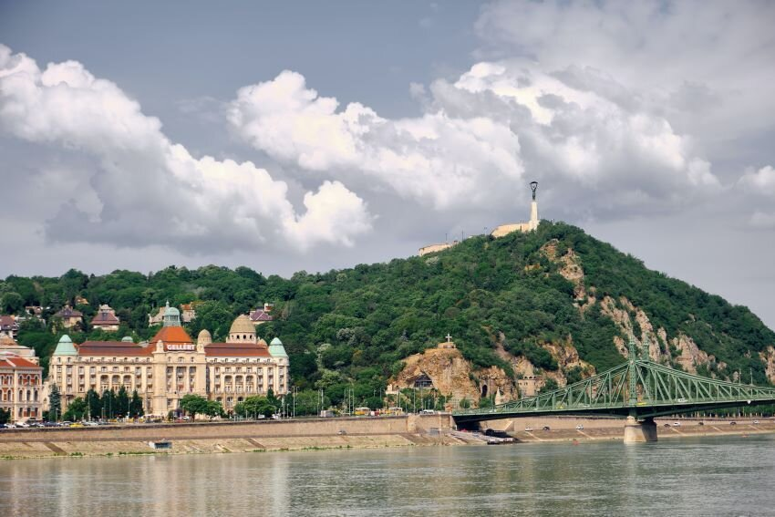 Riverside in Budapest, Hungary.