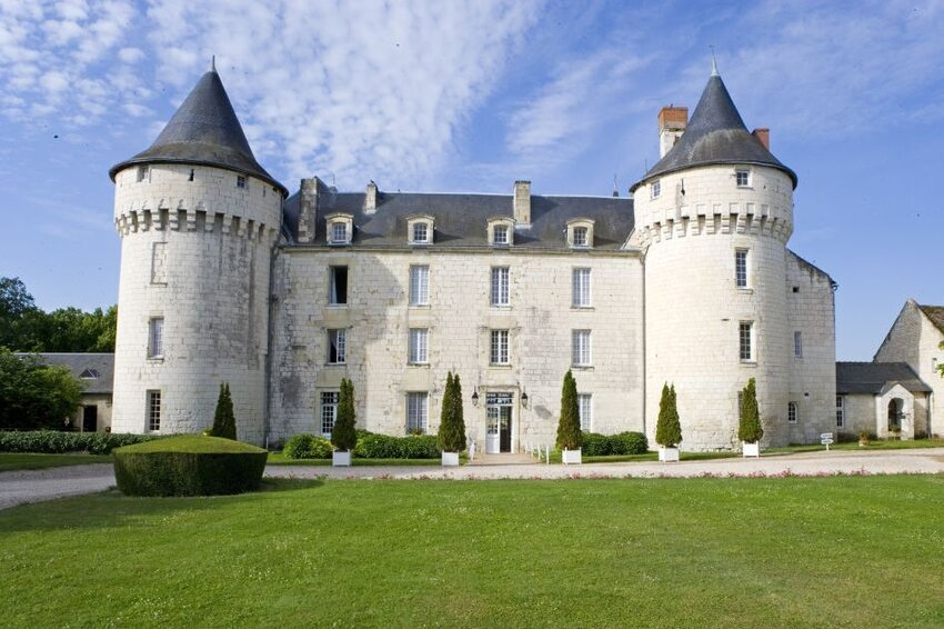 Historic Chateau de Marcay, seen from the front