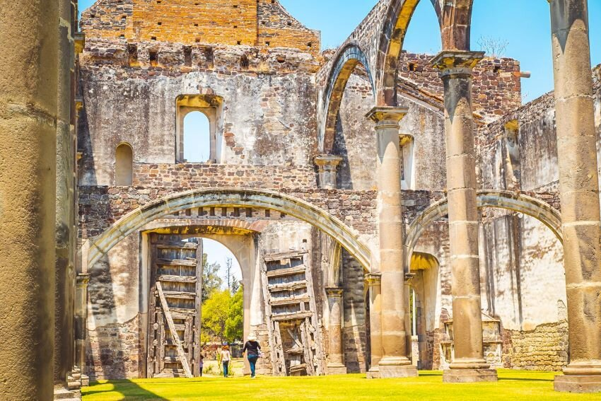 """Stone Town """"Tecali de Herrera"""" in Puebla, Mexico."""