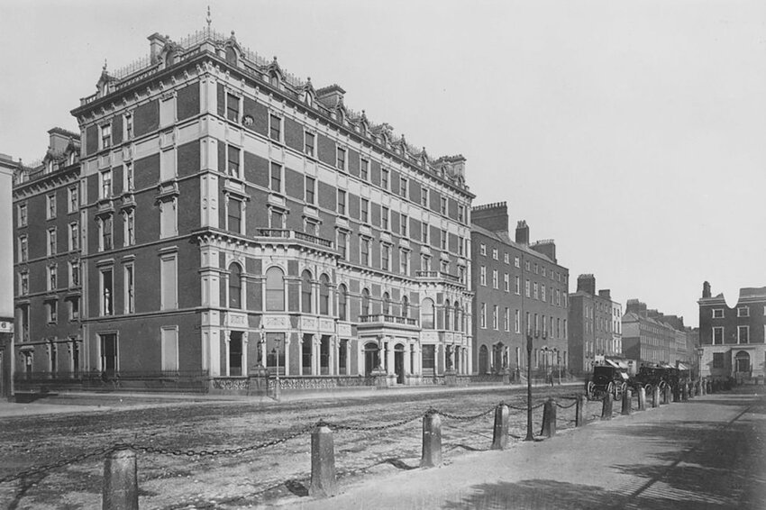 The Shelbourne Hotel at St Stephen's Green, Dublin, circa 1880