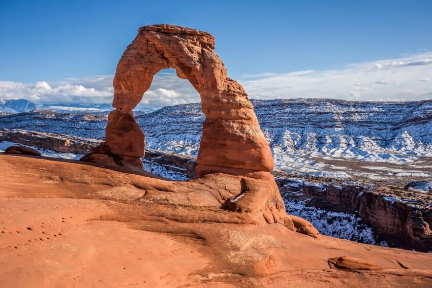 The Delicate Arch in Arches National Park.