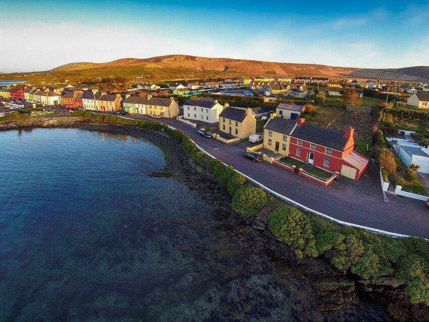 Coastal homes in County Kerry, Ireland