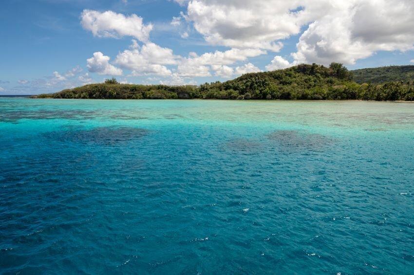 The tropical Piti Bay around Fish Eye Marine Park on Guam.