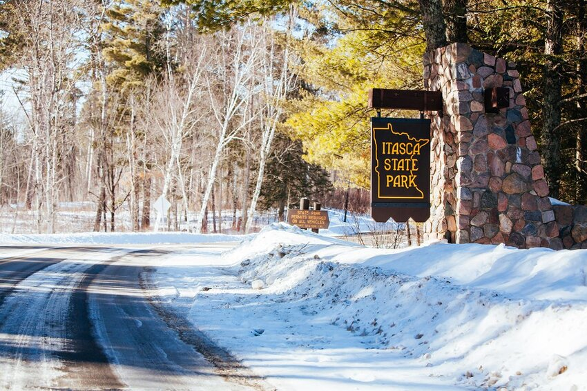 The Itasca National Park entrance in Minnesota