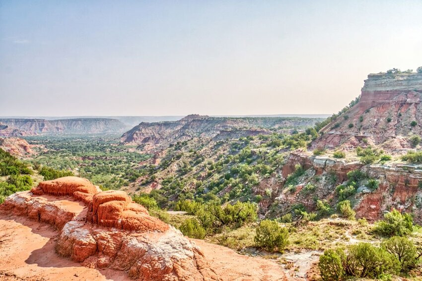 Beautiful Palo Duro Canyon State Park in Texas during the day.