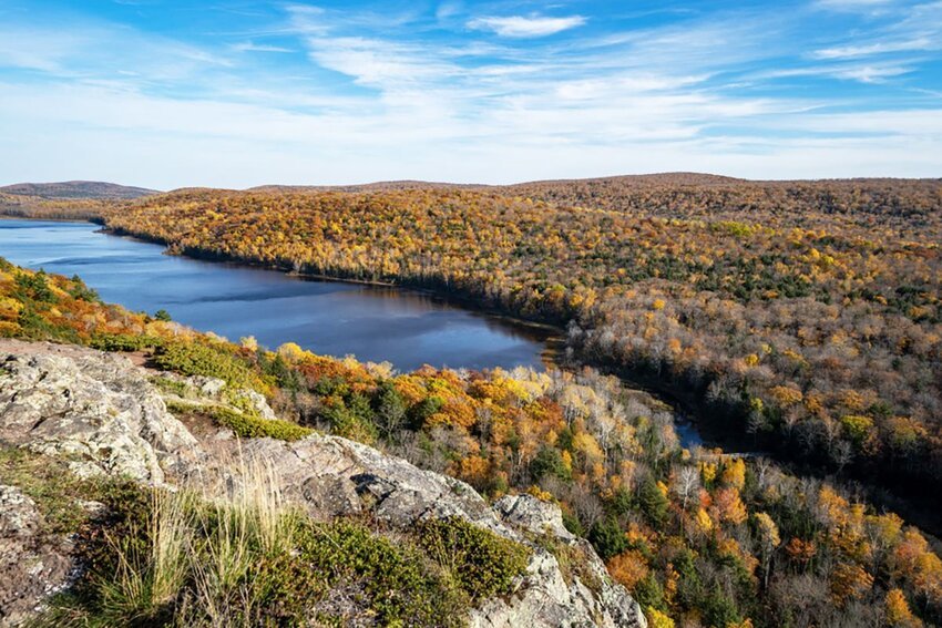 Lake of the Clouds in the Porcupine Mountains Wilderness in Michigan during the Fall.