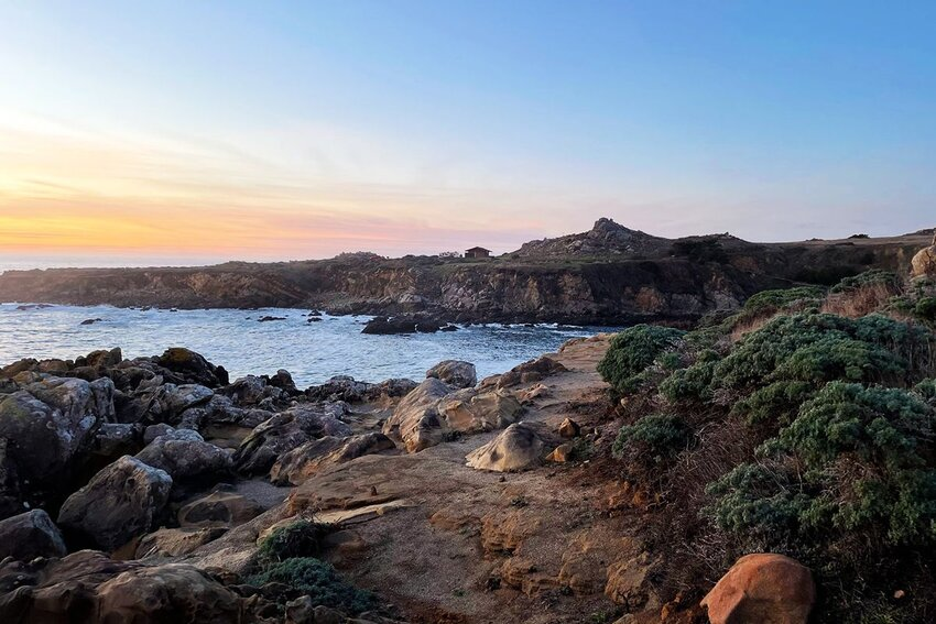 Salt Point State Park on the in California at sunset.