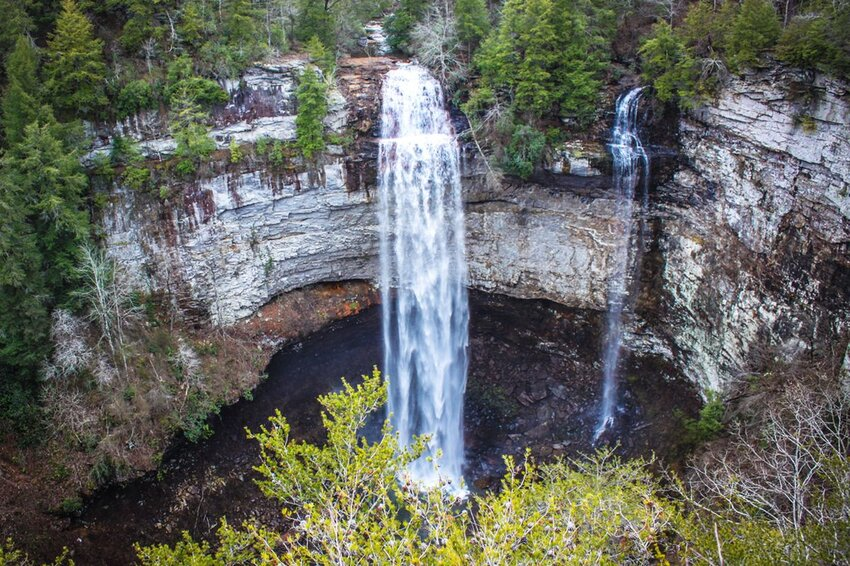 Fall Creek Falls in Tennessee in the early Winter.