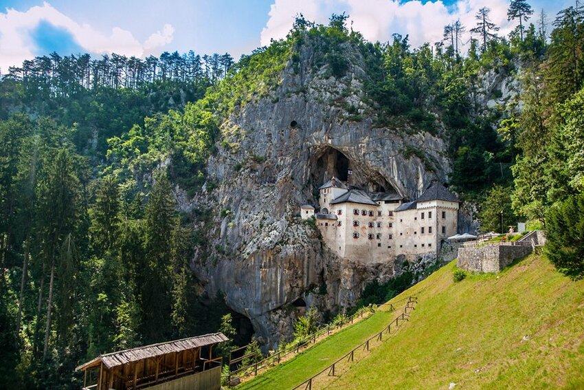 Predjama Castle built in the cave, Slovenia.